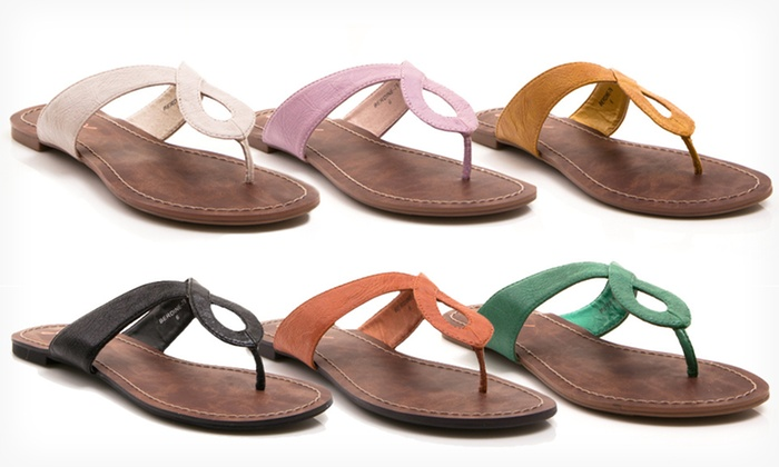 GoMax Bernadine Flat Sandals: $21.99 for GoMax Bernadine Flat Sandals ($34.99 List Price). Multiple Colors Available. Free Shipping and Returns.