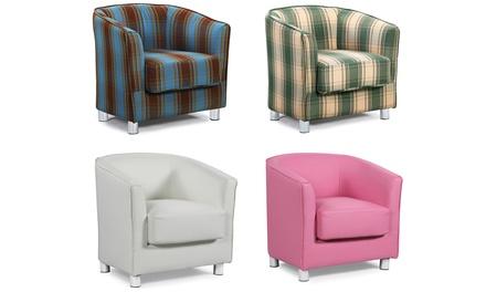 vegas fabric tub chair