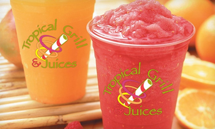 Tropical Grill & Juices - Franklin Park: Six Smoothies, Freezes, or Tropical Shakers or $5 for $10 Worth of Treats at Tropical Grill & Juices