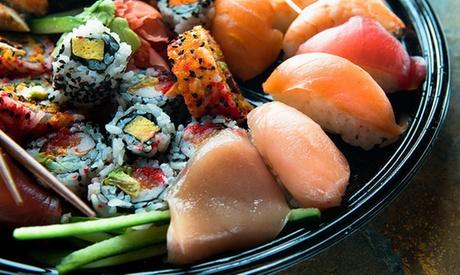 Cocina japonesa para dos con entrante, bebida y bandeja de 30 o 50 piezas de sushi desde 19,95 €