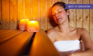 A to Zen: One Infrared Salt Sauna Sessions or One Month of Unlimited Sessions at A to Zen (Up to 65% Off)