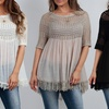 Women's Bohemian Tunic with Fringe Accents