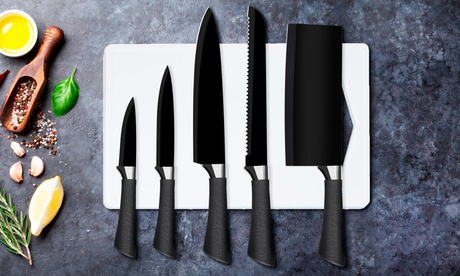 Groupon DE Silvano 6-teiliges Messer-Set mit antihaftbeschichteten Klingen