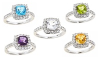 GROUPON: Gemstone Rings. Multiple Gemstones Available. Gemstone Ring in Sterling Silver