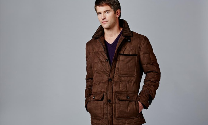 Rainforest: $124 for a Rainforest Men's Microsuede Quilted Jacket ($325 List Price). Multiple Colors. Free Shipping and Returns.