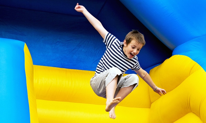 BounceU Matthews & Charlotte - Multiple Locations: Open Bounce, Parents' Night Out, One-Day Camp, Pre-K Drop-Off, or Bounce Party at BounceU (Up to 58% Off)