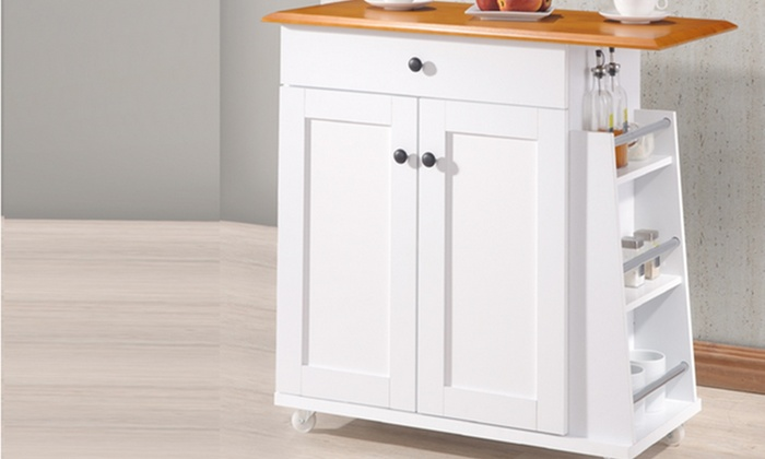 Kitchen Cart Trolley Cabinet Groupon Goods