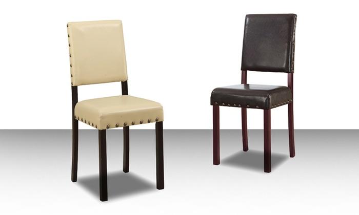 Baxton Studio Walter Modern Dining Chairs: Set of Two Walter Modern Dining Chairs in Cream or Dark Brown. Free Returns.