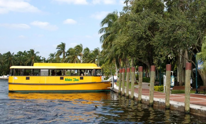 Fort Lauderdale Water Taxi - Multiple Locations: $26 for All-Day Fort Lauderdale Water Taxi Rides for Two ($52 Value)