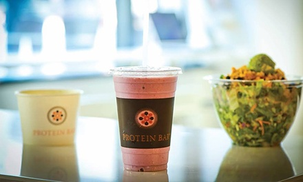 $10.50 for Three Groupons, Each Good for $7 Worth of Healthy Food and Juices at Protein Bar ($21 Value)