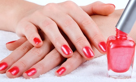 Two Regular or Gel Shellac Manicures at Midtown Beauty Bar (Up to 47% Off)