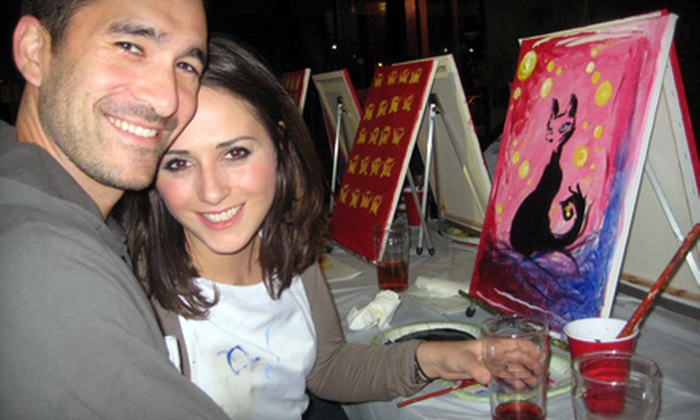 Paint Nite - Multiple Locations: $25 for a Two-Hour Painting Party from Paint Nite ($45 Value). 16 Locations Available.