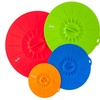 Set of 4 Silicone Suction Covers and Bowl Lids