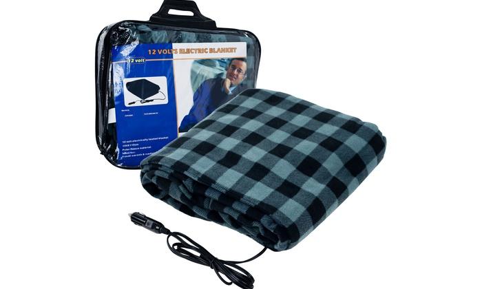 Car Blanket: Plaid Electric Blanket For Cars