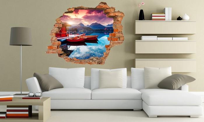 Adesivi 3d da parete in vinile groupon goods for Stickers per muri