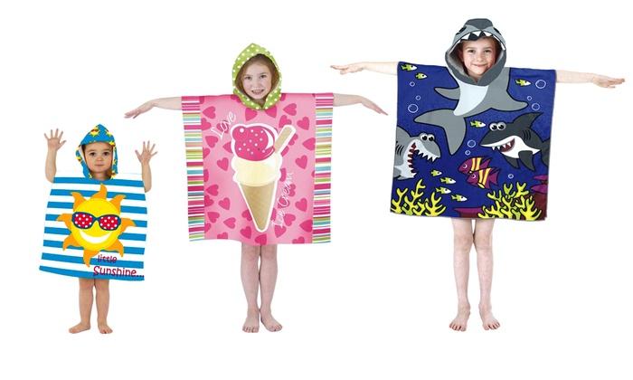 poncho de bain pour enfants groupon shopping. Black Bedroom Furniture Sets. Home Design Ideas