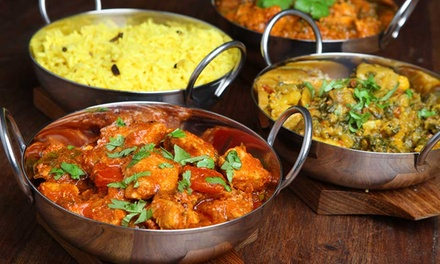 TwoCourse Indian Meal with Rice or Naan for Up to Six at Raj Douth