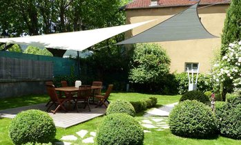 Toldo vela triangular impermeable
