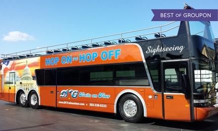 Hop-On, Hop-Off Bus Tour of DC for an Adult or Child from DC Trails (Up to 44% Off)