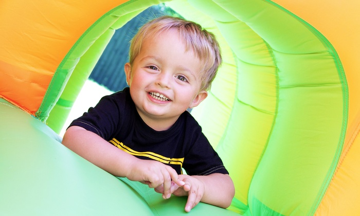 Jungle George's - Fort Wayne: Bounce-House Admission for Up to Two or Five Kids with Tokens and Snacks at Jungle George's (Up to 52% Off)