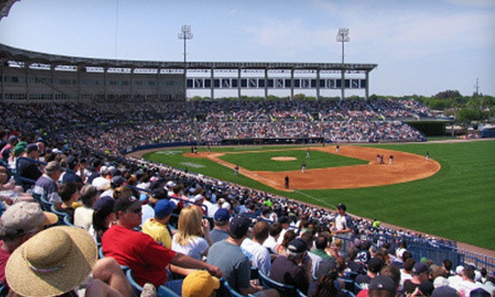 Tampa Yankees - George Steinbrenner Field: Tampa Yankees Game for Two or for Four with a $10 Food Credit at George M. Steinbrenner Field on July 3 (Up to 54% Off)