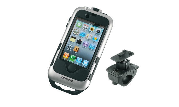 Groupon Goods Global GmbH: Supporto Interphone da moto per iPhone 4 e 4S a 34,90 € invece di 49,90