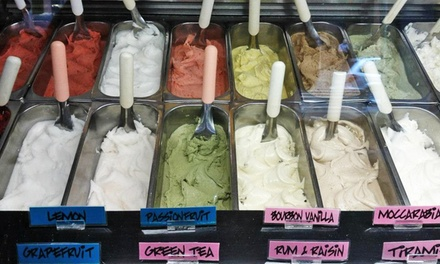 $13 for One Five-Visit Punchcard for One Small Cone or Cup of Gelato at Piccolo Grande ($19.90 Value)
