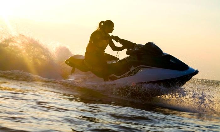 H2O Jet Ski - Mission Bay Park: $49 for One-Hour Jet-Ski Rental at H2O Jet Ski ($100 Value)