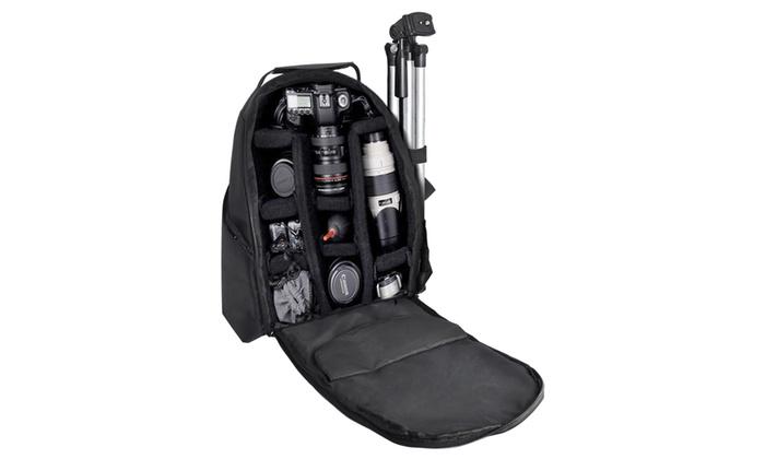 Deluxe Padded Digital SLR Camera Backpack | Groupon