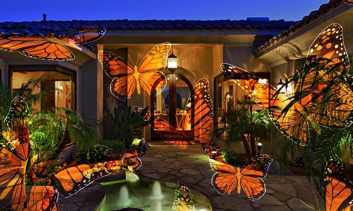 Night Stars Holiday Themed Outdoor Motion Light Projector