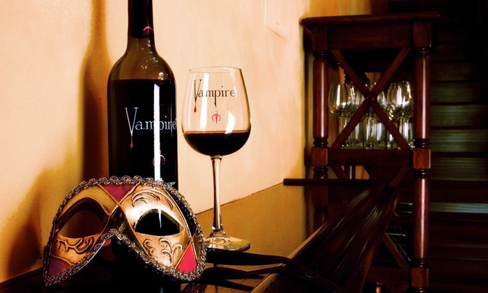 Vampire Lounge & Tasting Room - Beverly Hills: Vampire Wine-Tasting Package and Gift for Up to Two or Four at Vampire Lounge & Tasting Room (Up to 53% Off)