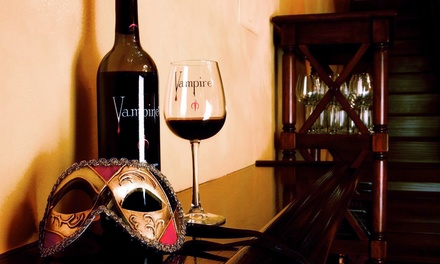 Vampire Wine-Tasting Package and Gift for Up to Two or Four at Vampire Lounge & Tasting Room (Up to 53% Off)