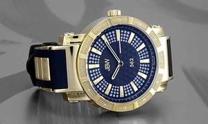 JBW 562 Men's Genuine Diamond Rubber Watch