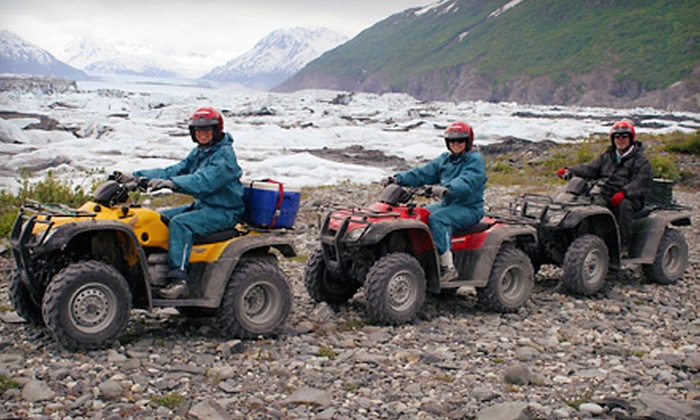 Alaska Backcountry Adventure Tours - Butte: Three-Hour ATV Glacier Tour for One or Full-Day Tour for One or Two from Alaska Backcountry Adventure Tours (51% Off)