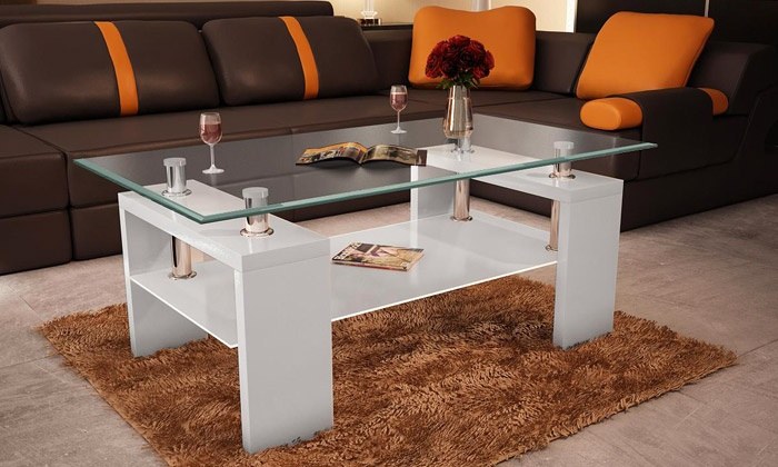 table basse plateau en verre groupon shopping. Black Bedroom Furniture Sets. Home Design Ideas