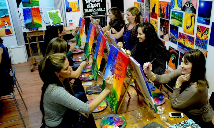 A Painting Fiesta - A Painting Fiesta - San Diego: Two-and-a-Half-Hour Painting Class for One or Two at A Painting Fiesta (Up to 40% Off)