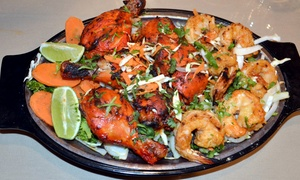 Taj: Indian Cuisine for Two on Sunday-Thursday or Friday–Saturday at Taj Indian Cuisine (Up to 48% Off)