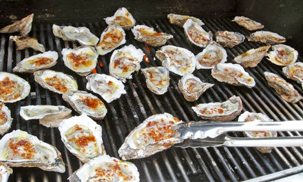 Music and Oyster Cooking with Drinks on April 11 or 12 at The Oyster Jam Fest (31% Off). Two Options Available.