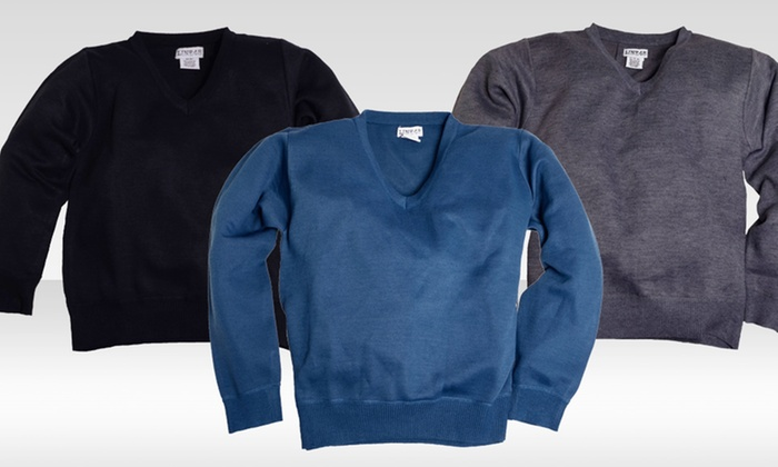 Boys' V-neck Sweaters: Boys' V-neck Sweaters. Multiple Colors Available.