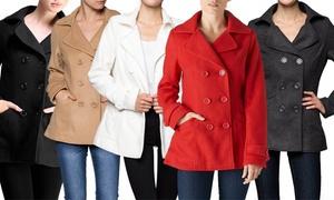 Women's Classic Pea Coat: Women's Classic Pea Coat