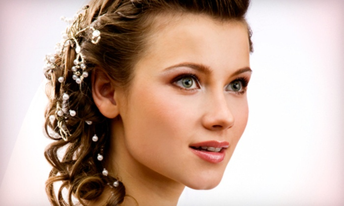 Studio D Hair Design - Irondequoit: Bridal Updo and Bridesmaid Hairstyling at Studio D Hair Design (Up to 59% Off). Three Options Available.