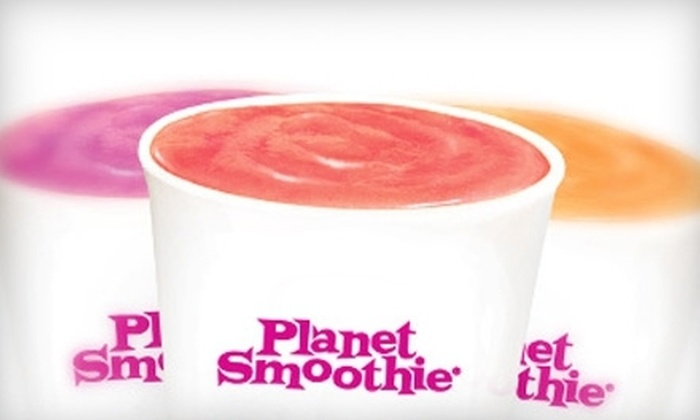 Planet Smoothie - Multiple Locations: $16 for Six Health-Conscious Smoothies at Planet Smoothie ($31.74 Value)