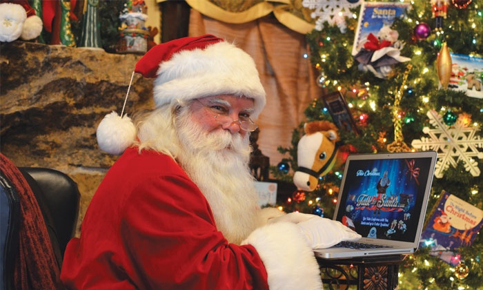Talk to Santa: $25 for One Live Video Conference Call with Santa Claus from up to 5 Remote Locations ($49.95 Value)