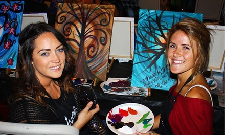 Three Hour Art Class for Two or Four at Inspire San Diego Studio (Up to 44% Off)