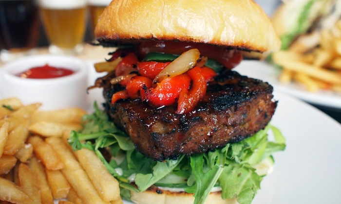 SW Craft Bar - Lowertown - St.Paul : Burgers or Sandwiches with Craft Beer Flights for Two or Four at SW Craft Bar (48% Off)