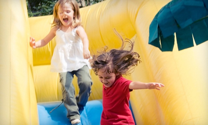 Amazing Jumps - Albuquerque: Jump-and-Slide Party Package or Obstacle-Course Party Package from Amazing Jumps (Up to 52% Off)