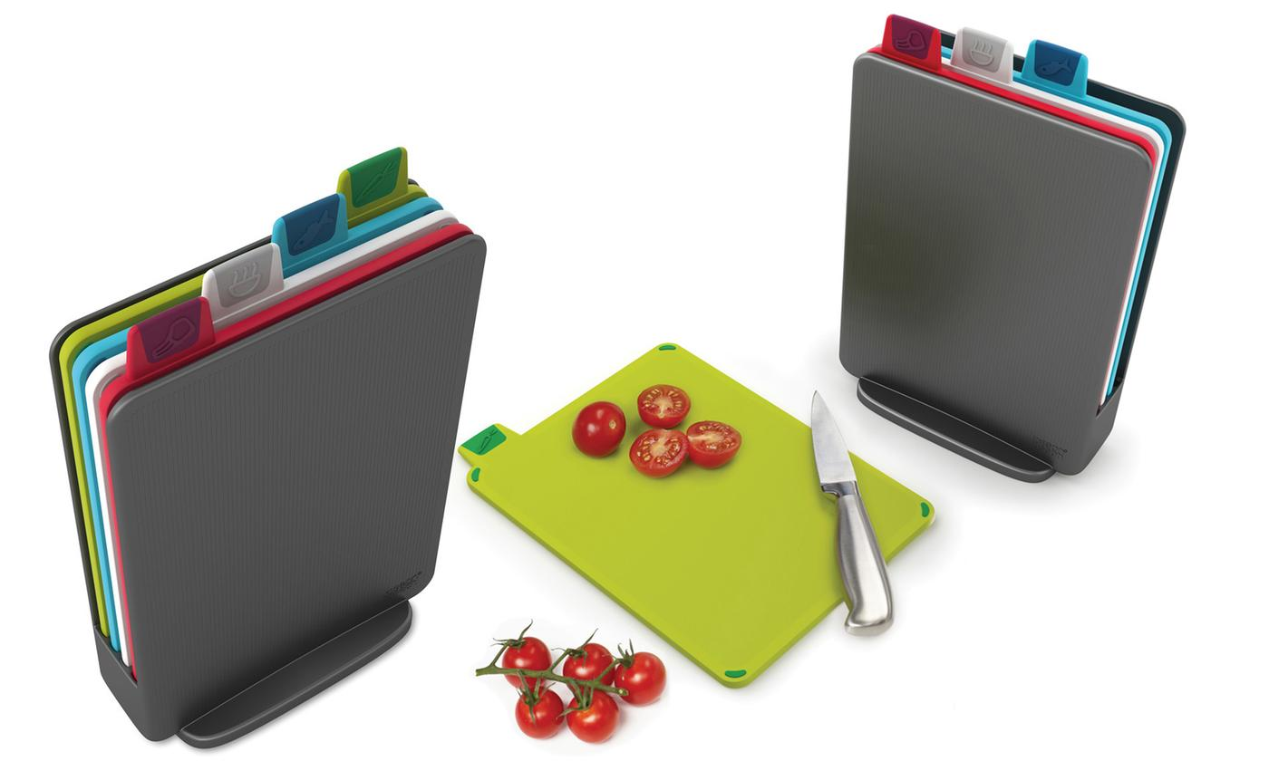 One or Two Four-Piece Sets of Joseph Joseph Index Mini Chopping Boards