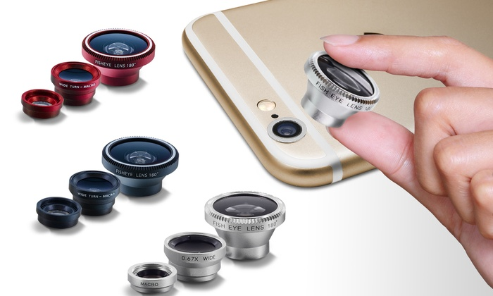Aduro Camera Lens Kit for Apple iPhones (3-Piece)