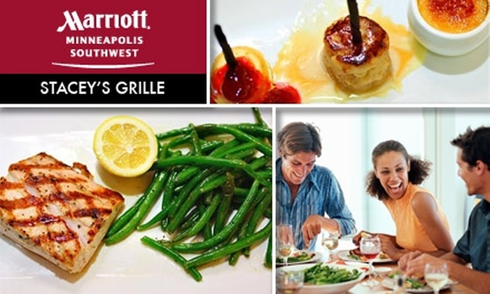 Minneapolis Marriott Southwest - Minnetonka - Hopkins: $8 for $20 Worth of Upscale American Fare at Stacy's Grille