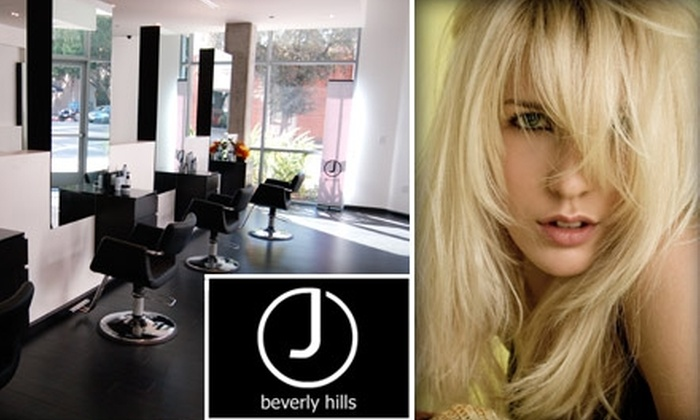 J Beverly Hills - Pasadena: $35 for a Haircut, Blow-Dry, Styling, and Repairing Oil Treatment at J Beverly Hills Salon